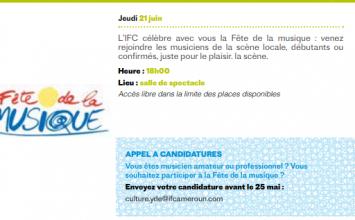 FÊTE DE LA MUSIQUE IFC Yaoundé