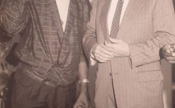 Manu Dibango et son grand ami Hervé Bourges