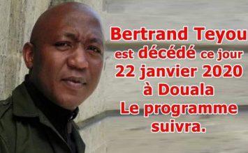 Bertrand Teyou ou l'histoire d'un gâchis !