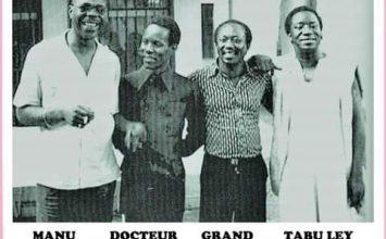 Manu Dibango à l'école de la musique Congolaise