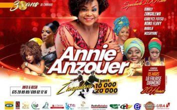Annie Anzouer Célèbre 30 ans de Carrière le 5 Mars 2021 à La Falaise Diomond à Bonanjo