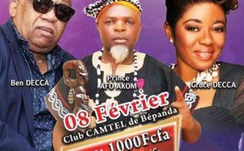 FESTIVAL FOMARIC – 8 Février2020 : Ben Decca, Prince Afo Akom et Grace Decca en Concert