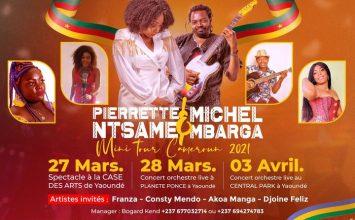 Mini Tour Cameroun: Pierrette Ntsamé et Michel Mbarga en Concert les 27, 28 Mars et 03 Avril 2021