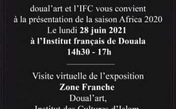 Saison Africa 2020 à L'institut Français de Douala le 28 Juin 2021
