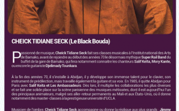 Cheick Tidiane Seck, une prière afro jazz à Randy Weston