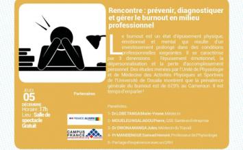 Rencontre: Prévenir , Diagnostiquer et gérer le burnout en milieu professionnel